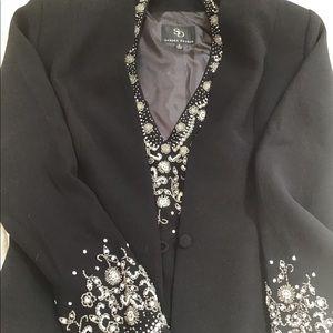 Black 2 piece suit .